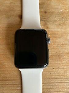 Apple Watch Series 2 Nike+ 42mm Aluminum Case Flat Silver/White Sport Band