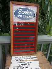 VINTAGE BORDEN'S ICE CREAM STORE MENU FLAVOR BOARD