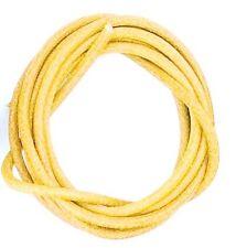 Schmuck-Hobby Lederriemen gelb Ø 1 mm - 1 Meter