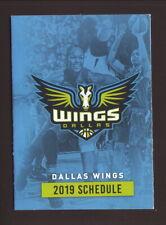 Dallas Wings--2019 Pocket Schedule--WNBA