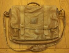 Distressed Patina Leather Daypack Carrier Bag GB Laptop bag teacher student