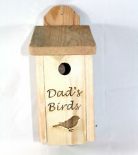 Dads's Wooden Personalised Bird Box, Handmade by Bee Beautiful