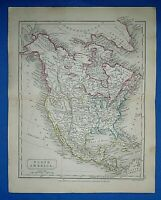 Antique 1829 Dr Butler's Atlas Map ~ NORTH AMERICA ~ Authentic Sidney Hall