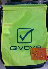 ZAINO sacchetto GIVOVA giallo FLUO sport fitness palestra tempo libero calcio