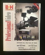 B&H catalog volume 1 Professional Video Source Book 2008 Sony Panasonic MORE!