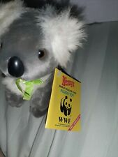 Vintage Wendy's world wildlife fund plush toy Wwf kuala bear
