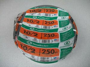 SOUTHWIRE 10/2 w / ground, UF-B Underground Feed Wire, 250 ft roll, Copper, Rate