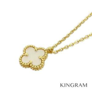 Van Cleef & Arpels Sweet Alhambra 18K Yellow Gold Mother of Pearl from Japan