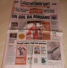 GAZZETTA DELLO SPORT 10 GENNAIO 2007 FERRARI RAIKKONEN ADRIANO INTER