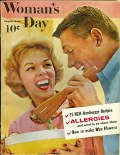 1959 Woman's Day Magazine: Allergies/How to Make Wax Flowers/Hamburger Recipes