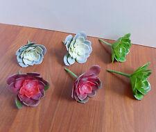 Set of 6 Small Snow Lotus Artificial Grass Desert Succulents (3 Colors)