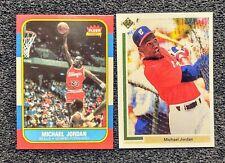 1986 Michael Jordan Basketball 1991 Baseball Rookie Card Lot. Novelty Cards Mint