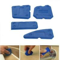 4x NEW CAULKING TOOL KIT SEALANT SILICONE GROUT REMOVAL FINISHING & CLEANING SET