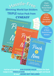 SALE🌟Slimming World Syn Stickers for 3 PINCH of NOM Books ⭐VERIFIED SYNs 2021⭐