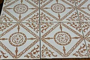 9 Tiles Vintage 70s 6 inch Geometric Wall Tiles Job Lot