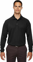 Extreme Men's Performance Long Sleeve Casual Polyester Pique Polo T-Shirt. 85099