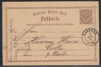 30811) RABENAU nachverwendeter Sachsen Stempel 1874 auf Postkarte COTTA