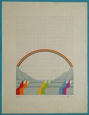 Jens LAUSEN (1937) Sérigraphie III Originale 1970 Signée 78x60cm Pop Art Arciel