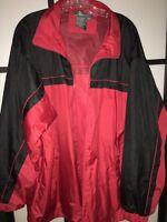 $60. Ritchie's Sportswear Men's Wind breaker, Rain Jacket Red and Black Size XL