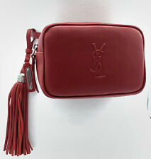 YSL SAINT LAUREN LOU WOMEN BELT BAG 527096 IN RED LEATHER MRSP: $850.00