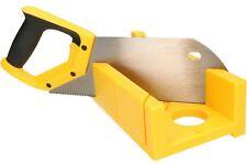 Gehrungslade mit Säge Kunststoff Gehrungssäge Schneidlade Handsäge ABS