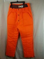 VINTAGE SAFTBAK MENS  INSULATED ORANGE HUNTING PANTS SIZE L