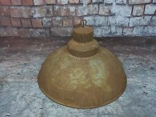 Vintage Industrial Rustic Reclaimed Salvaged Riveted Pendant Light Lamp Shade