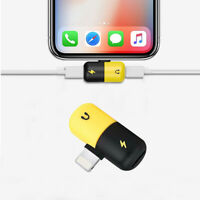 2 in 1 Adapter Headphone Audio Charger Cable Splitter  For iPhone 7 8 X XS 11 12