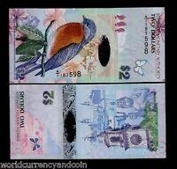 BERMUDA 2 DOLLARS P-57 2009 *A/1* Hybrid POLYMER BIRD BUTTERFLY ANIMAL UNC NOTE