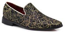 New Men Vintage Rhinestone Embroidery Designer Dress Shoes Tuxedos Loafers  SPK5