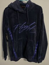 Nike Air Jordan Wings of Flight Sherpa Pullover Hoodie Navy XXL