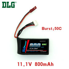 Genuine DLG RC Battery 11.1V 3S 25C 800mAh Burst 40C Li-Po LiPo JST plug