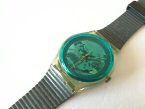 """Vintage Swatch from 1987 : """" Turquoise Bay """" ( GK103 ) in good condition"""