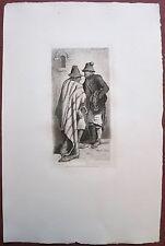 Eau-forte originale, Mendiants Espagnols, Adolphe Balfourier