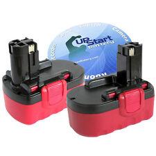 2x 18 Volt 18V NiMh Battery for Bosch BAT025 BAT026 BAT160 BAT180 BAT181 BAT189