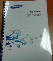 SAMSUNG GALAXY NOTE 10.1 GT- N8010 FULL PRINTED INSTRUCTION MANUAL USER GUIDE