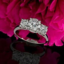 1 CT D/VS2 ROUND CUT DIAMOND SOLITAIRE ENGAGEMENT RING 14k WHITE GOLD ENHANCED