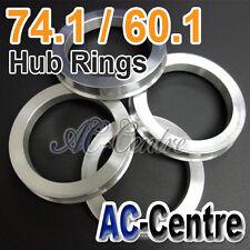 MISSION SPEED 74.1mm 60.1mm WHEEL HUB CENTRE SPACER HUB CENTRIC RING ALUMINIUM