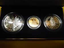 1989 US Mint Congressional Coins -3 Coin Gold & Silver Proof Set -Orig Packaging