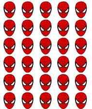 30 Spiderman Comestibles Papel De Arroz cake/cupcake toppers/decorations