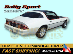 1978 1979 Chevrolet Camaro Rally Sport RS Decals & Stripes Kit