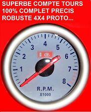 HDJ PATROL PAJERO LAND HILUX L200 JEEP RANGE! MANOMETRE COMPTE TOURS POUR DIESEL