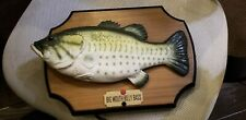 Big Mouth Billy Bass Singing Animated Fish 1999 Gemmy for parts not working