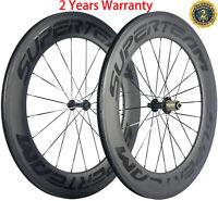 88mm Carbon Wheels Road Bike Racing Cycle Wheelset 700C 23mm Width Shimano Hub
