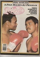 THE RING MAGAZINE LARRY HOLMES-MUHAMMAD ALI BOXING HOFers COVER OCTOBER 1980