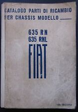 FIAT AUTOBUS 635 RN/RNL catalogo parti ricambio spares catalogue Ersatzteilliste