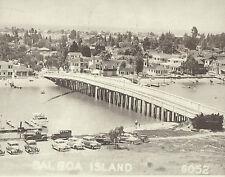 "NEWPORT BEACH Balboa Island Auto Bridge VINTAGE Photo Print 1478 11"" x 14"""