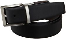 NEW Calvin Klein Mens Smooth Leather Reversible Belt Black Brown 34
