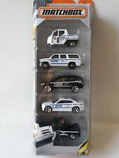 Chevy Dodge GMC Police NYPD Matchbox Diecast Metal Cars Toy 5 Pack *AIR MAIL*