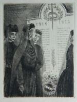 Incisione Anonimo I Vedova Di Guerra Memoriale 1914-1915